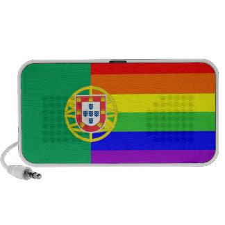 homosexual orgulloso gay de la bandera del arco ir portátil altavoces