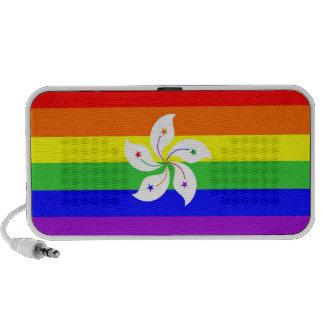 homosexual orgulloso gay de la bandera del arco ir altavoz de viajar