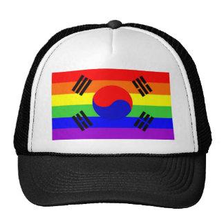 homosexual orgulloso gay de la bandera del arco ir gorros bordados