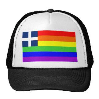 homosexual orgulloso gay de la bandera del arco ir gorras de camionero