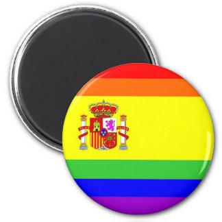 homosexual orgulloso gay de la bandera del arco ir imán redondo 5 cm