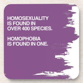 HOMOSEXUALITY IS FOUND IN 400 SPECIES DRINK COASTERS
