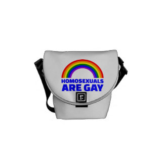 Homosexuals are gay messenger bag