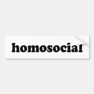 HOMOSOCIAL BUMPER STICKER