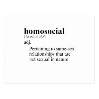 HOMOSOCIAL POSTCARD