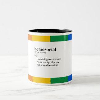 HOMOSOCIAL TAZA DOS TONOS