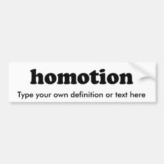 HOMOTION BUMPER STICKERS