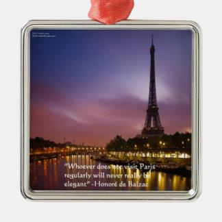 Hon de Balzac On Paris France Christmas Ornaments