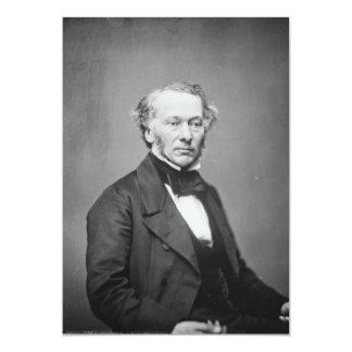 Hon. Richard Cobden M.P. Portrait c. 1865 5x7 Paper Invitation Card