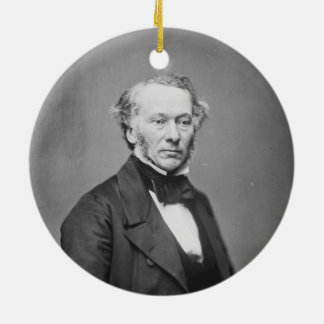 Hon. Richard Cobden M.P. Portrait c. 1865 Double-Sided Ceramic Round Christmas Ornament