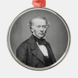 Hon. Richard Cobden M.P. Portrait c. 1865 Round Metal Christmas Ornament