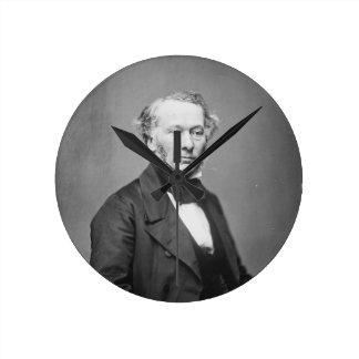 Hon. Richard Cobden M.P. Portrait c. 1865 Round Wall Clock