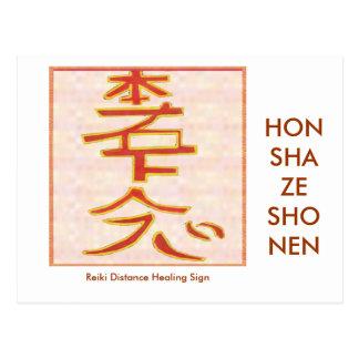 HON SHA ZE SHO NEN - Reiki distance healing Post Card