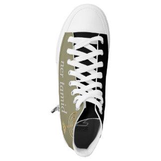 Honbre-muher sneakers. Menorah. Permanent light High-Top Sneakers