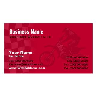 Honda Red Motocross Business Card