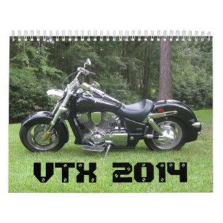 Honda VTX 2014 #1 Wall Calendar