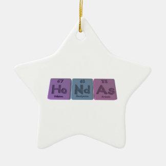 Hondas-Ho-Nd-As-Holmium-Neodymium-Arsenic.png Adorno De Cerámica En Forma De Estrella