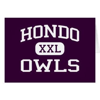 Hondo - Owls - Hondo High School - Hondo Texas Greeting Card