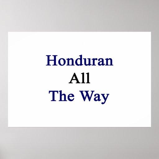 Honduran All The Way Poster