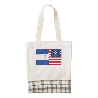 Honduran American Flag Zazzle HEART Tote Bag