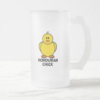 Honduran Chick Frosted Glass Beer Mug