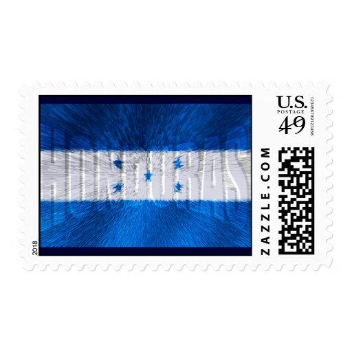 Honduran flag of Honduras artwork gift ideas Stamps
