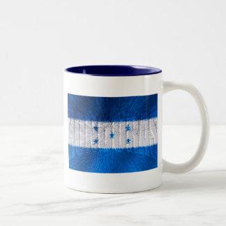 Honduran flag of Honduras artwork gift ideas Two-Tone Coffee Mug