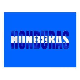 Honduran flag of honduras logo emblem gifts postcard