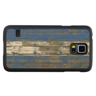 Honduran Flag on Rough Wood Boards Effect Carved® Maple Galaxy S5 Case