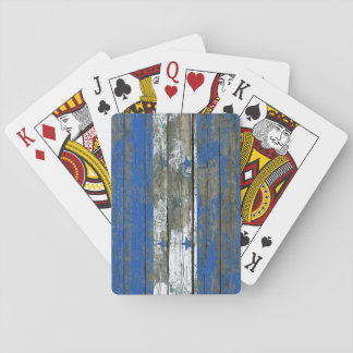 Honduran Flag on Rough Wood Boards Effect Playing Cards