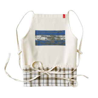 Honduran Flag on Rough Wood Boards Effect Zazzle HEART Apron