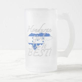 Honduran Girls Do It Best! Frosted Glass Beer Mug
