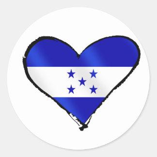 Honduran Love - I Love Honduras flag gifts Classic Round Sticker