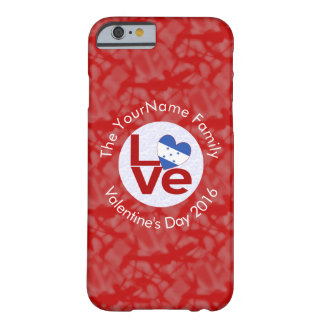 Honduran LOVE White on Red Barely There iPhone 6 Case