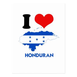 HONDURAN MAP POST CARD