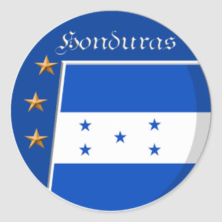 Honduran rounded sticker