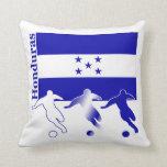 Honduran Soccer Players Throw Pillow