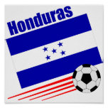 Honduran Soccer Team Poster