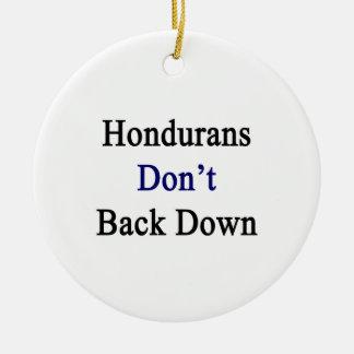 Hondurans Don't Back Down Christmas Ornaments