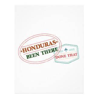 Honduras Been There Done That Letterhead