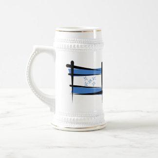 Honduras Brush Flag Beer Stein
