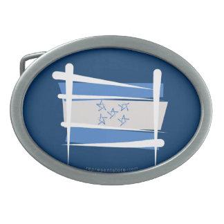Honduras Brush Flag Belt Buckle