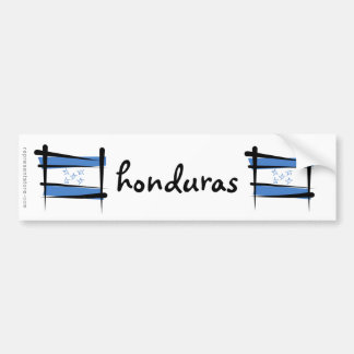 Honduras Brush Flag Bumper Sticker