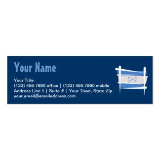 Honduras Brush Flag Business Card Templates