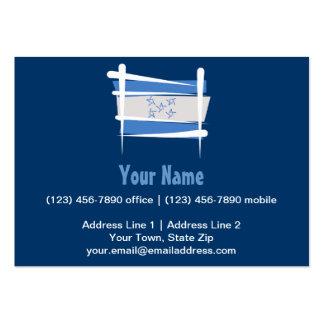Honduras Brush Flag Business Card Template