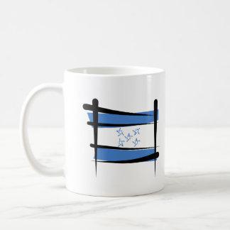 Honduras Brush Flag Coffee Mug
