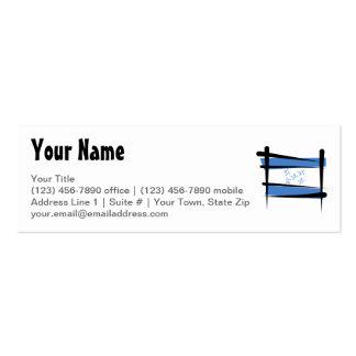 Honduras Brush Flag Double-Sided Mini Business Cards (Pack Of 20)