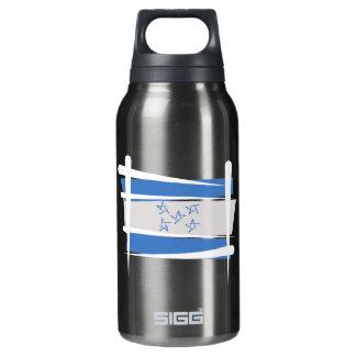 Honduras Brush Flag Insulated Water Bottle