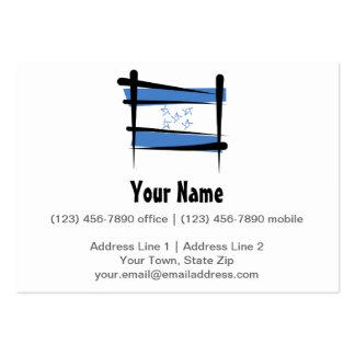 Honduras Brush Flag Large Business Cards (Pack Of 100)