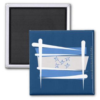 Honduras Brush Flag Refrigerator Magnet
